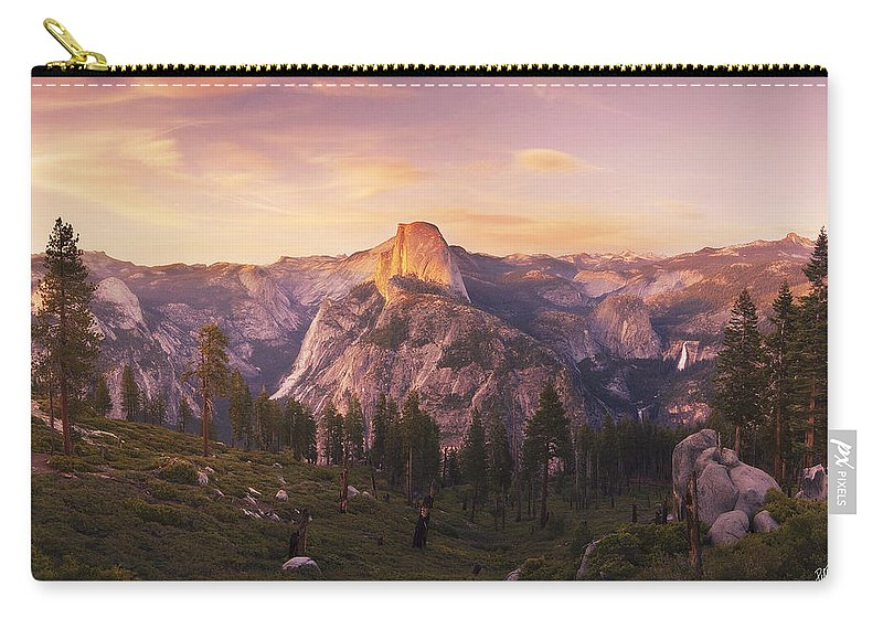 Yosemite Carry-all Pouch featuring the photograph Eyes Over Yosemite by Peter Coskun