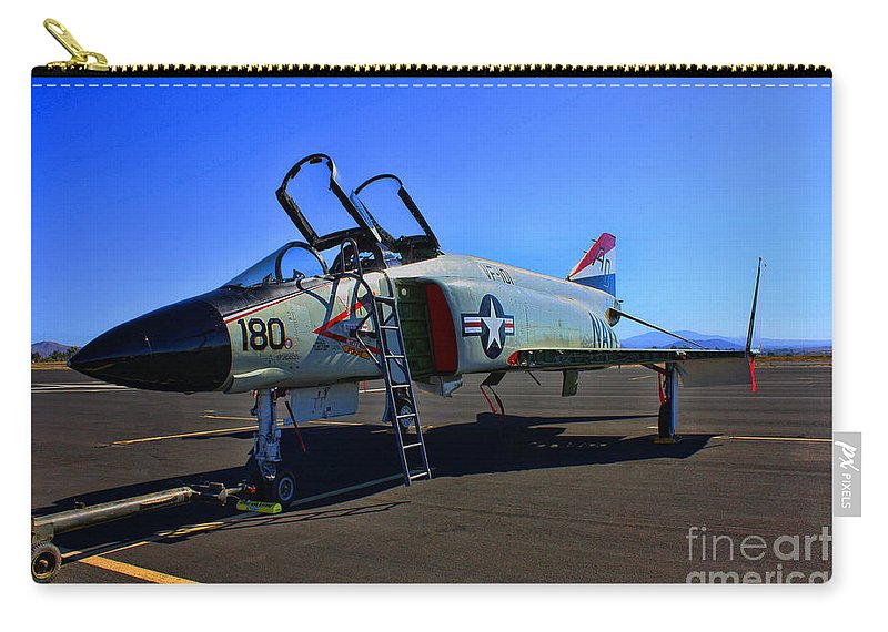 Mcdonnell Douglas F-4 Phantom 2 Carry-all Pouch featuring the photograph F-4 Phantom II No. 11 by Tommy Anderson