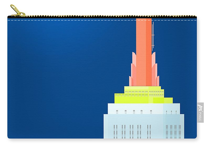 Empire State Building Vector Carry-all Pouch featuring the digital art Fables And Fairy Tales by Nishanth Gopinathan