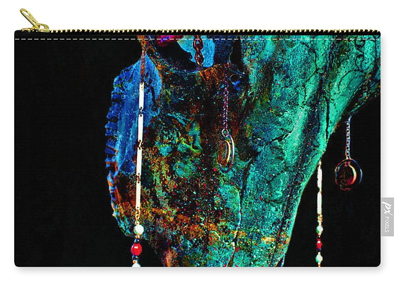 Skulls Drawings Carry-all Pouch featuring the photograph Fabricated II by Mayhem Mediums
