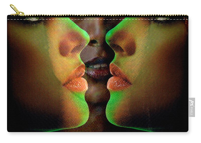 Women Carry-all Pouch featuring the digital art Face 2 Face by Seth Weaver