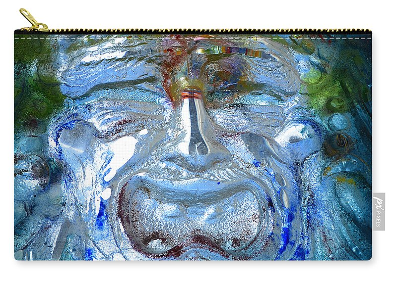 Fine Art Photography Carry-all Pouch featuring the photograph Face In Glass by David Lee Thompson