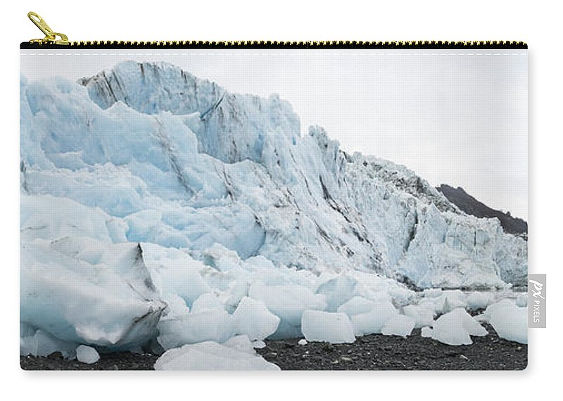 Bryn Mawr Glacier Carry-all Pouch featuring the photograph Face Of Bryn Mawr Glacier by Ted Raynor