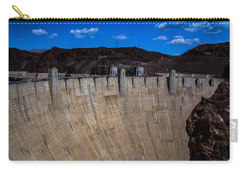 Nevada Carry-all Pouch featuring the photograph Face Of The Dam by Angus Hooper Iii