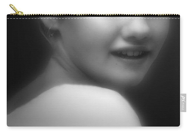Black And White Carry-all Pouch featuring the photograph Face Of The War by RC DeWinter