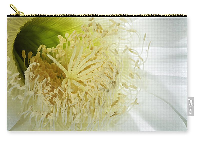 Flower Carry-all Pouch featuring the photograph Face To Face by Phyllis Denton