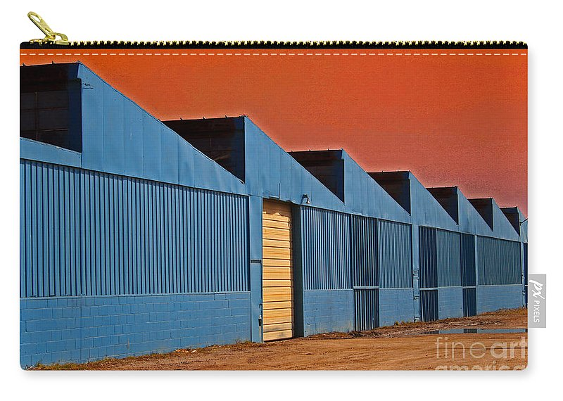 Building Carry-all Pouch featuring the photograph Factory Building by Karen Adams