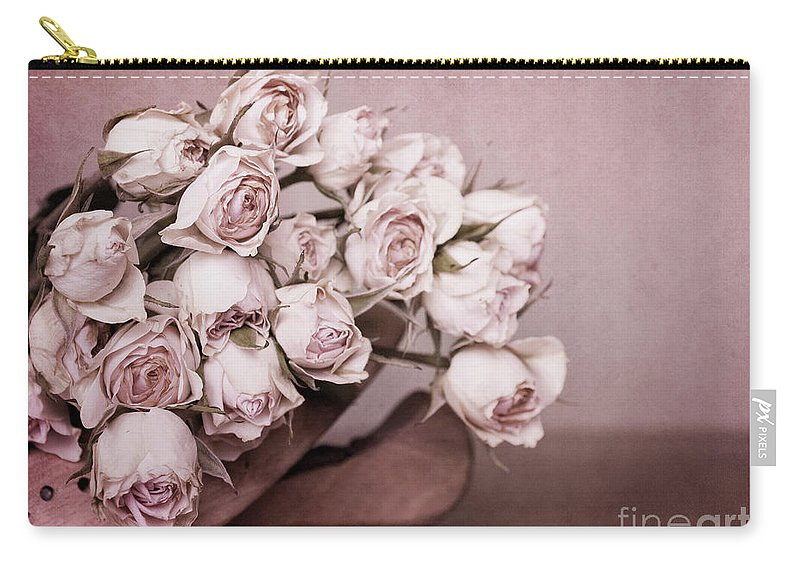 Rose Carry-all Pouch featuring the photograph Fade Away by Priska Wettstein