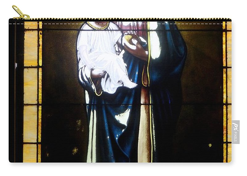 Stained Glass Carry-all Pouch featuring the photograph Faded Beauty by Ed Weidman