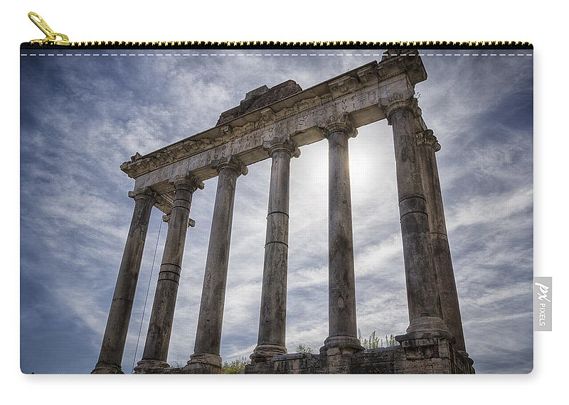 Joan Carroll Carry-all Pouch featuring the photograph Faded Glory Of Rome by Joan Carroll