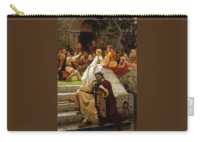 Pre-raphaelite Carry-all Pouch featuring the painting Faded Laurels by Philip Ralley