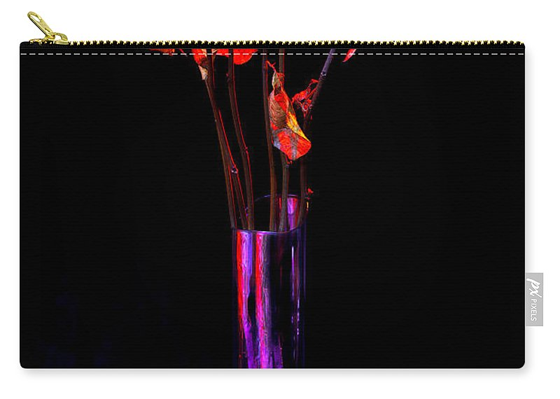 Flower Carry-all Pouch featuring the photograph Faded Long Stems by Christopher Holmes