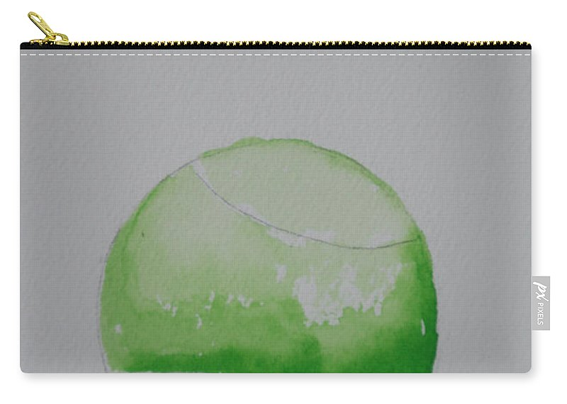 Tennis Ball Carry-all Pouch featuring the painting Fading Green by Susan Herber
