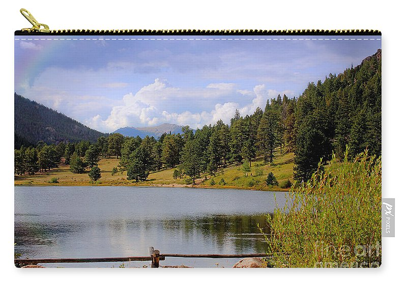Colorado Carry-all Pouch featuring the photograph Fading Rainbow by Bob Hislop