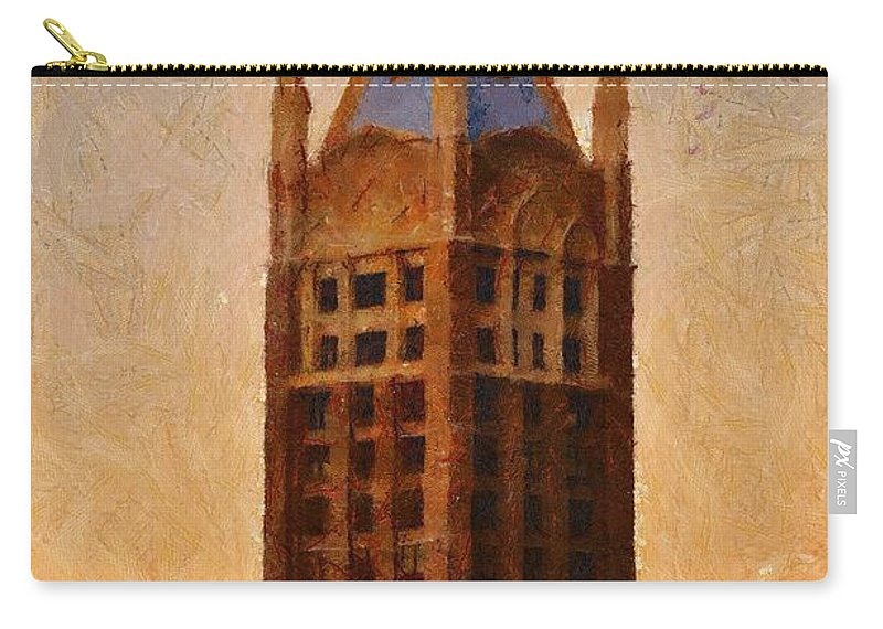 Architecture Carry-all Pouch featuring the painting Fading Slowly Into Night by Jeffrey Kolker