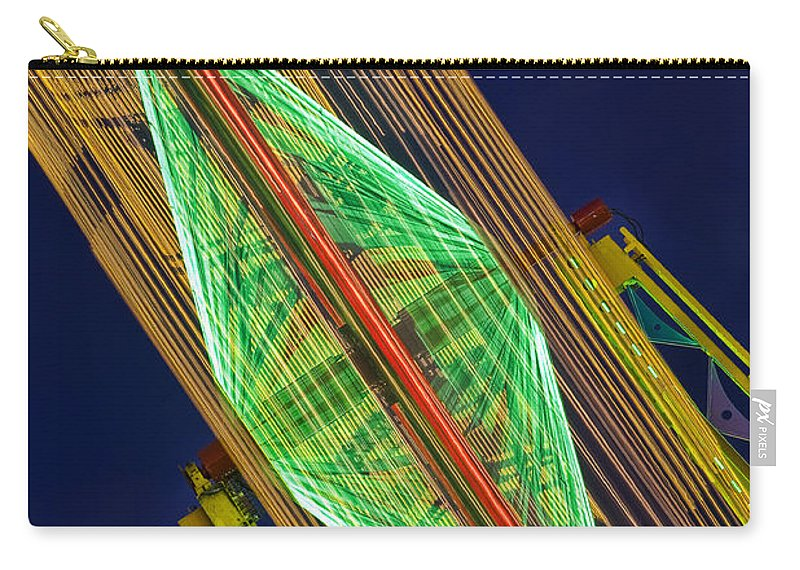 Blur Carry-all Pouch featuring the photograph Fair Night by Linda D Lester