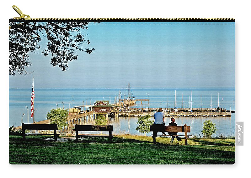 Fairhope Carry-all Pouch featuring the painting Fairhope Alabama Pier by Michael Thomas
