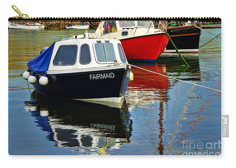 Mousehole Carry-all Pouch featuring the photograph Fairmaid At Mousehole Harbour by Susie Peek