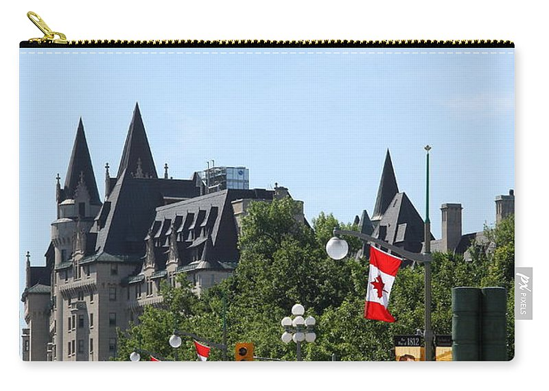 Chateau Laurier Carry-all Pouch featuring the photograph Fairmont Chateau Laurier I - Ottawa by Christiane Schulze Art And Photography
