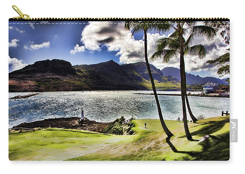 Seafront Carry-all Pouch featuring the photograph Fairway In Paradise by Douglas Barnard