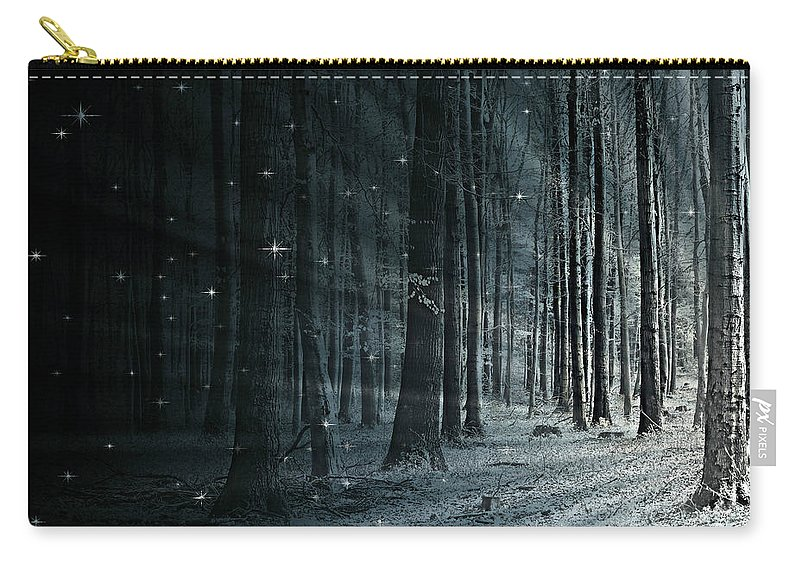 Flora Carry-all Pouch featuring the mixed media Fairy Forest by Heike Hultsch