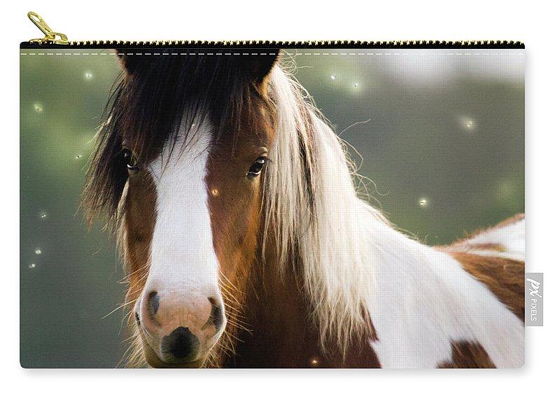 Fairy Carry-all Pouch featuring the photograph Fairytale Pony by Angel Ciesniarska