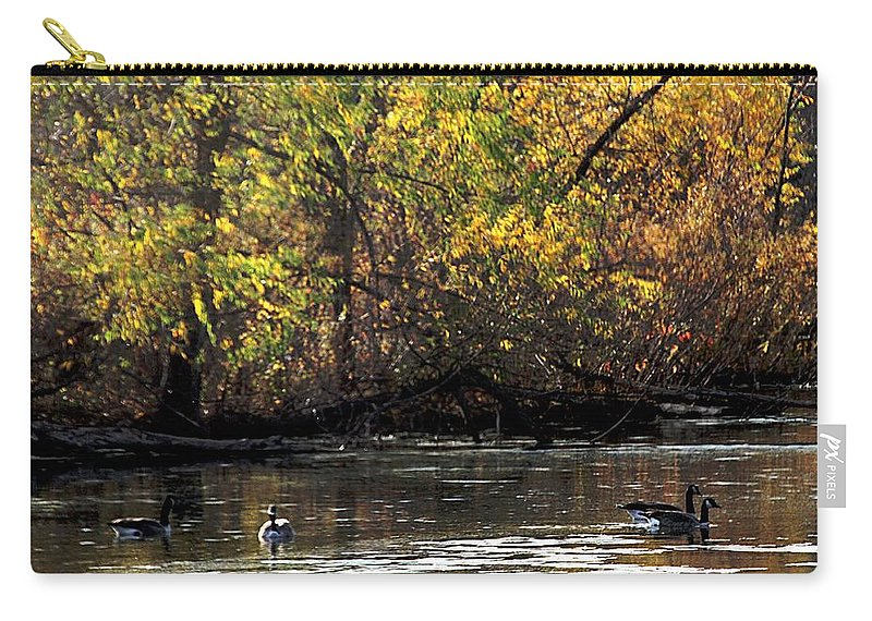 Lake Carry-all Pouch featuring the photograph Fall At The Lake by Elizabeth Winter