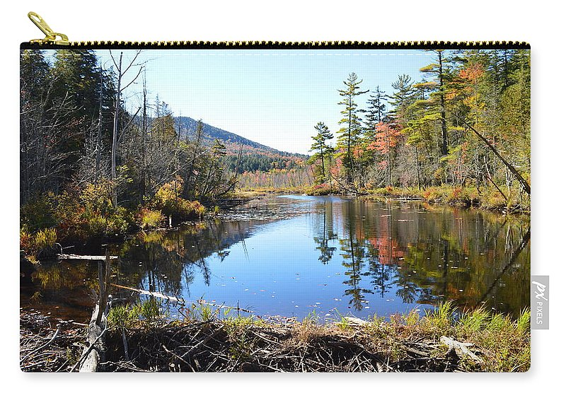 Fall Carry-all Pouch featuring the photograph Fall Beaver Dam by Thomas Phillips