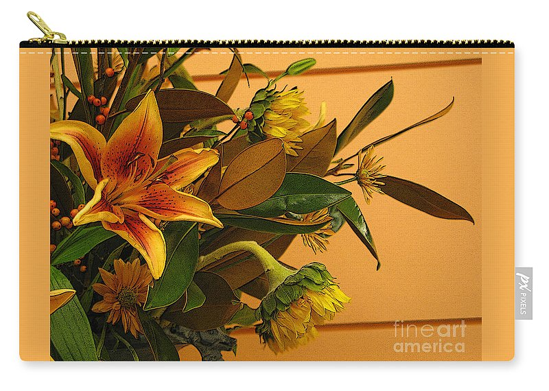 Flowers Carry-all Pouch featuring the photograph Fall Bouquet by Ann Horn