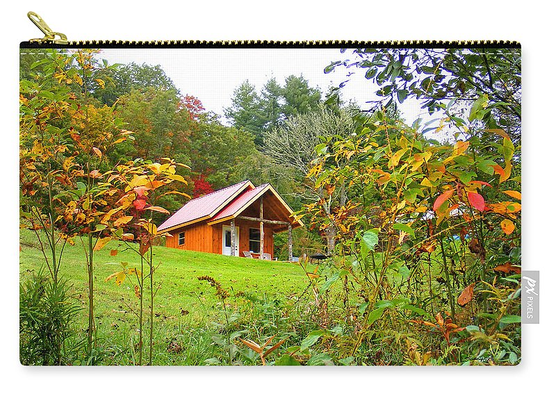 Plants Carry-all Pouch featuring the photograph Fall Cabin by Duane McCullough
