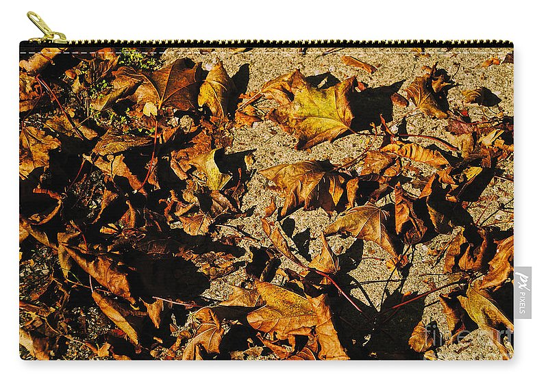 Leaves Carry-all Pouch featuring the photograph Fall Cleanup by William Norton