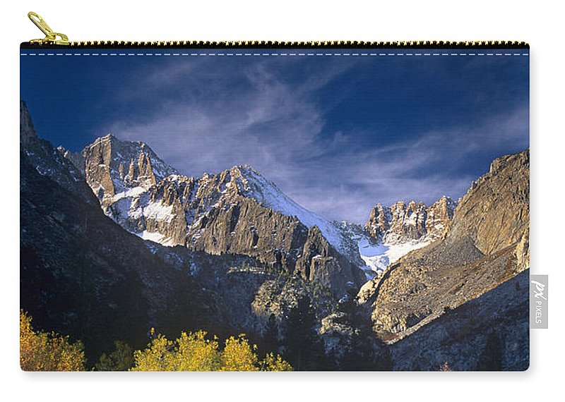 California Carry-all Pouch featuring the photograph Fall Color Below Middle Palisades Glacier Eastern Sierras California by Dave Welling