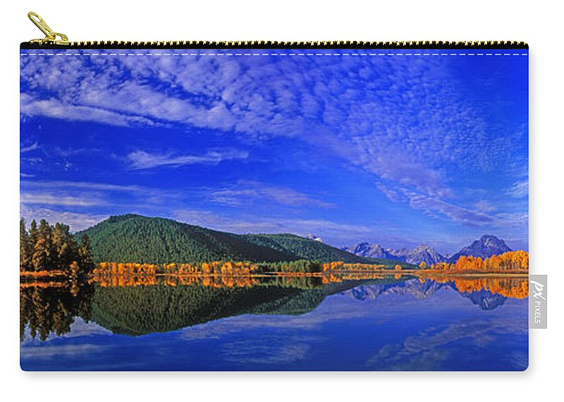 North America Carry-all Pouch featuring the photograph Fall Color Oxbow Bend Grand Tetons National Park Wyoming by Dave Welling