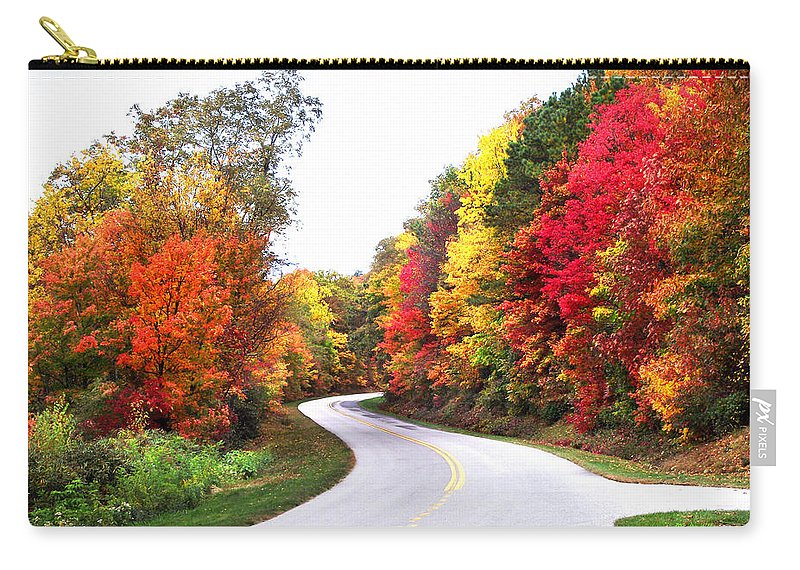 Landscapes Carry-all Pouch featuring the photograph Fall Colors Along The Blueridge Parkway by Duane McCullough