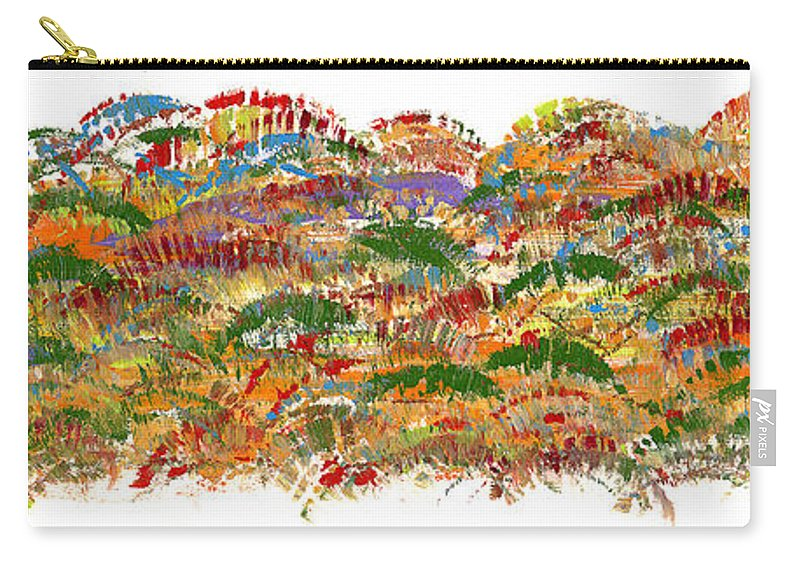 Trees Carry-all Pouch featuring the painting Fall Colours by Bjorn Sjogren