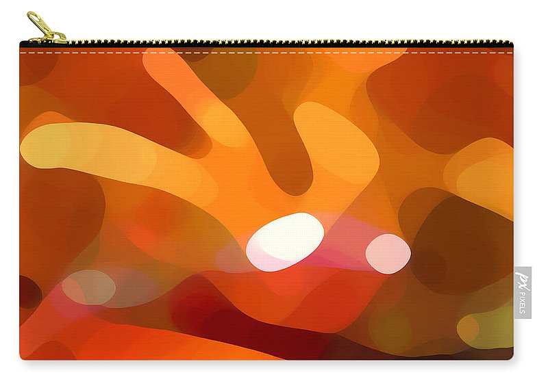 Abstract Carry-all Pouch featuring the painting Fall Day by Amy Vangsgard
