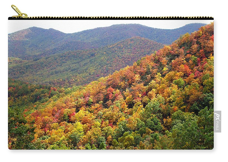 Duane Mccullough Carry-all Pouch featuring the photograph Fall Folage 2 Along The Blueridge by Duane McCullough