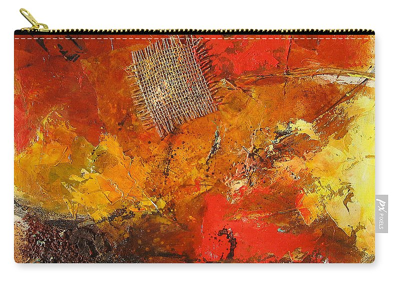 Abstract Carry-all Pouch featuring the painting Fall Foliage by Elise Palmigiani