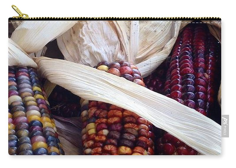 Fall Harvest Corn Carry-all Pouch featuring the photograph Fall Harvest Corn by Susan Garren