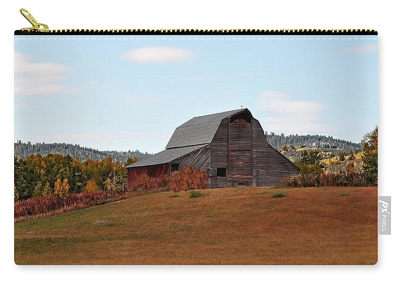 Barn Carry-all Pouch featuring the photograph Fall by Image Takers Photography LLC