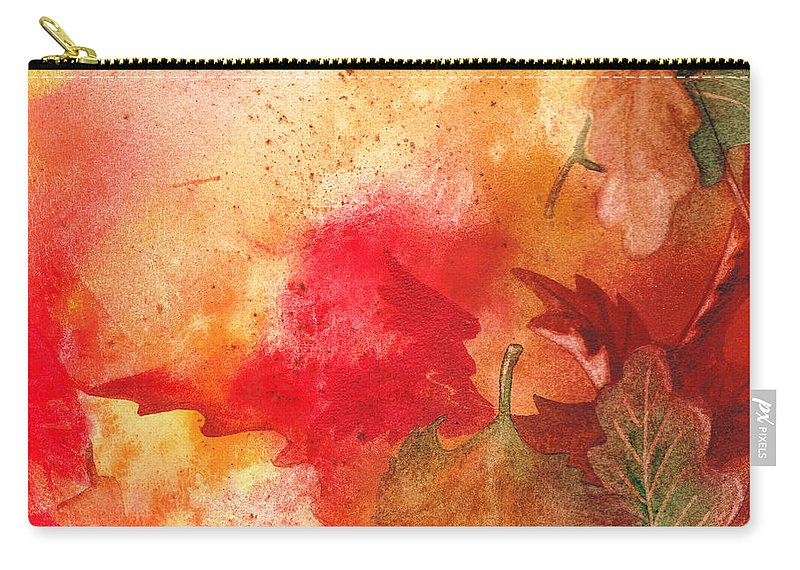 Fall Carry-all Pouch featuring the painting Fall Impressions by Irina Sztukowski