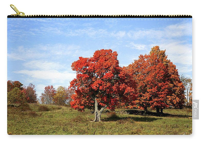 Fall Carry-all Pouch featuring the photograph Fall In The Pastures by Eric Swan