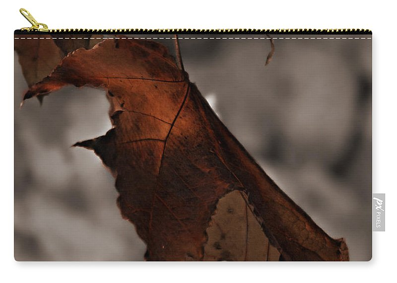 Autumn Carry-all Pouch featuring the photograph Fall Leaf Tweaked by Jeanette C Landstrom