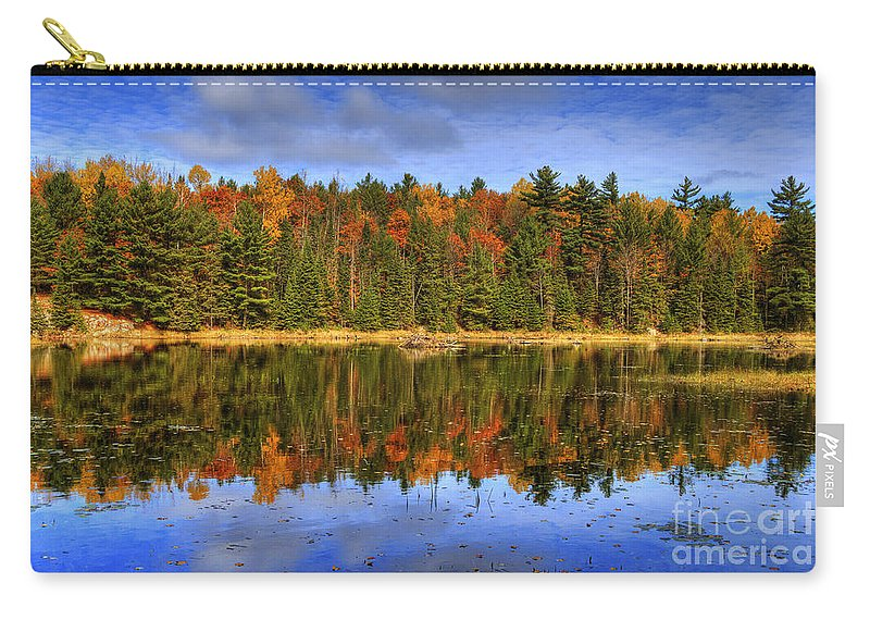 Festblues Carry-all Pouch featuring the photograph Fall.. by Nina Stavlund