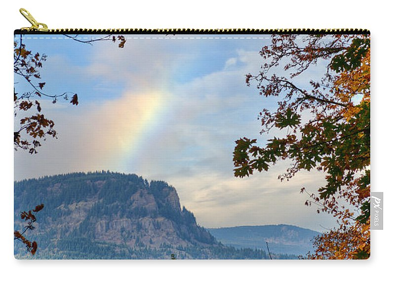 Multnomah Carry-all Pouch featuring the photograph Fall Rainbow by David Hart
