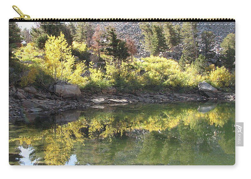 Reflection Carry-all Pouch featuring the photograph Fall Reflections by Darcy Tate