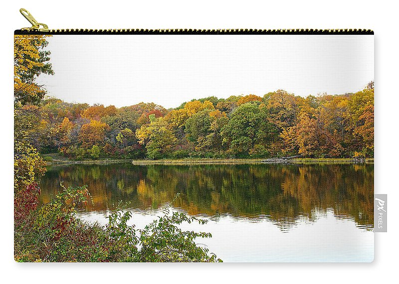Lake Carry-all Pouch featuring the photograph Fall Reflections by Ken Kobe