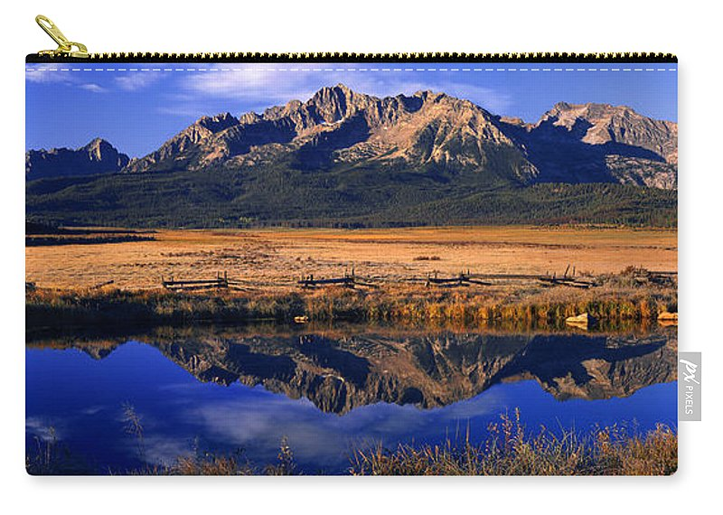 North America Carry-all Pouch featuring the photograph Fall Reflections Sawtooth Mountains Idaho by Dave Welling