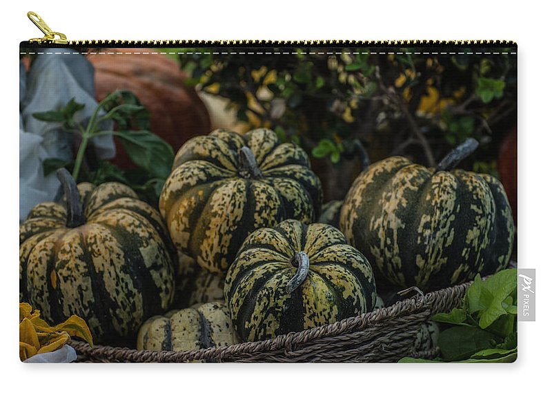 Harvest Carry-all Pouch featuring the photograph Fall Squash Harvest by Michael Moriarty