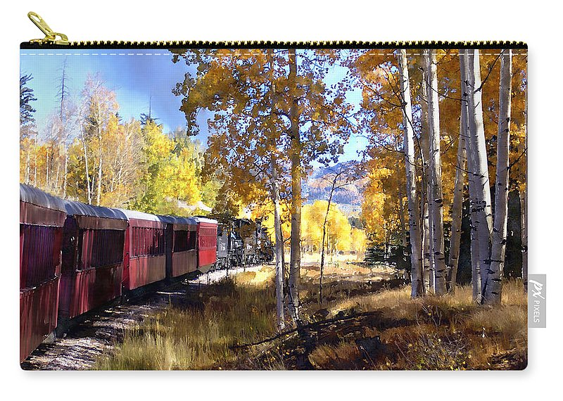 Chama Carry-all Pouch featuring the photograph Fall Train Ride New Mexico by Kurt Van Wagner